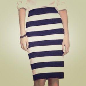 NWT Express Black & White Bandage Skirt